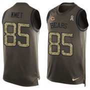 Wholesale Cheap Nike Bears #85 Cole Kmet Green Men's Stitched NFL Limited Salute To Service Tank Top Jersey