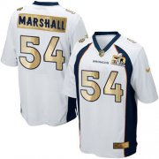 Wholesale Cheap Nike Broncos #54 Brandon Marshall White Men's Stitched NFL Game Super Bowl 50 Collection Jersey