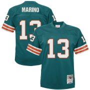 Wholesale Cheap Youth Miami Dolphins #13 Dan Marino Mitchell & Ness Aqua 1984 Legacy Retired Player Jersey