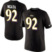 Wholesale Cheap Nike Baltimore Ravens #92 Haloti Ngata Pride Name & Number NFL T-Shirt Black