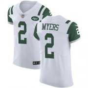 Wholesale Cheap Nike Jets #2 Jason Myers White Men's Stitched NFL Vapor Untouchable Elite Jersey