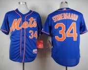 Wholesale Cheap Mets #34 Noah Syndergaard Blue Alternate Home Cool Base Stitched MLB Jersey