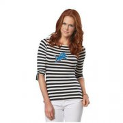 Wholesale Cheap Detroit Lions Lady Striped Boatneck Three-Quarter Sleeve T-Shirt