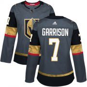 Wholesale Cheap Adidas Golden Knights #7 Jason Garrison Grey Home Authentic Women's Stitched NHL Jersey
