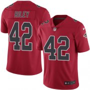 Wholesale Cheap Nike Falcons #42 Duke Riley Red Men's Stitched NFL Limited Rush Jersey