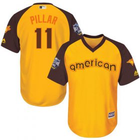 Wholesale Cheap Blue Jays #11 Kevin Pillar Gold 2016 All-Star American League Stitched Youth MLB Jersey