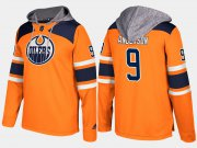 Wholesale Cheap Oilers #9 Glenn Anderson Orange Name And Number Hoodie