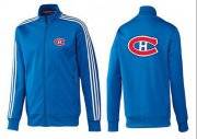 Wholesale Cheap NHL Montreal Canadiens Zip Jackets Blue-2