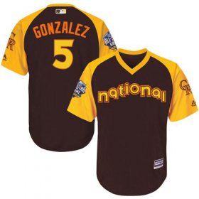 Wholesale Cheap Rockies #5 Carlos Gonzalez Brown 2016 All-Star National League Stitched Youth MLB Jersey