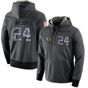 Wholesale Cheap NFL Men's Nike Arizona Cardinals #24 Adrian Wilson Stitched Black Anthracite Salute to Service Player Performance Hoodie