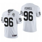 Wholesale Cheap Las Vegas Raiders #96 Clelin Ferrell Men's Nike 2020 Inaugural Season Vapor Limited NFL Jersey White