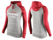 Wholesale Cheap Women's Nike Houston Texans Performance Hoodie Grey & Red_1