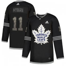 Wholesale Cheap Adidas Maple Leafs #11 Zach Hyman Black Authentic Classic Stitched NHL Jersey