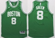 Wholesale Cheap Boston Celtics #8 Jeff Green Revolution 30 Swingman 2014 New Green Jersey