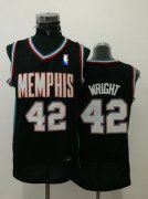Wholesale Cheap Men's Memphis Grizzlies #42 Lorenzen Wright Black Hardwood Classics Soul Swingman Throwback Jersey
