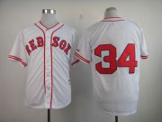 Wholesale Cheap Red Sox #34 David Ortiz White 1936 Turn Back The Clock Stitched MLB Jersey