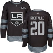 Wholesale Cheap Adidas Kings #20 Luc Robitaille Black 1917-2017 100th Anniversary Stitched NHL Jersey