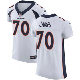 Wholesale Cheap Nike Broncos #70 Ja\'Wuan James White Men\'s Stitched NFL Vapor Untouchable Elite Jersey