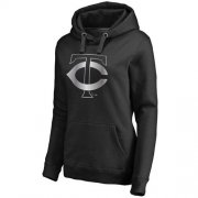 Wholesale Cheap Women's Minnesota Twins Platinum Collection Pullover Hoodie Black