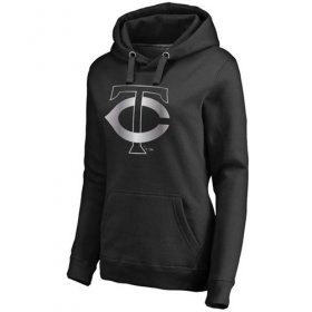 Wholesale Cheap Women\'s Minnesota Twins Platinum Collection Pullover Hoodie Black