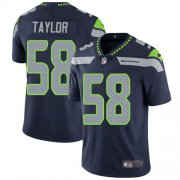 Wholesale Cheap Nike Seahawks #58 Darrell Taylor Steel Blue Team Color Men's Stitched NFL Vapor Untouchable Limited Jersey
