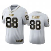 Wholesale Cheap New York Giants #88 Evan Engram Men's Nike White Golden Edition Vapor Limited NFL 100 Jersey