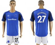Wholesale Cheap Everton #27 Browning Home Soccer Club Jersey
