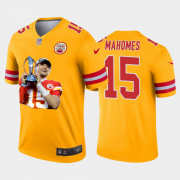 Cheap Kansas City Chiefs #15 Patrick Mahomes Nike Team Hero Vapor Limited NFL Jersey Yellow