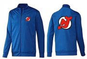 Wholesale Cheap NHL New Jersey Devils Zip Jackets Blue-1