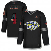 Wholesale Cheap Nashville Predators #4 Ryan Ellis Adidas Men's Black USA Flag Limited NHL Jersey