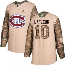 Wholesale Cheap Adidas Canadiens #10 Guy Lafleur Camo Authentic 2017 Veterans Day Stitched NHL Jersey