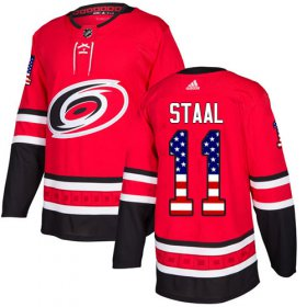 Wholesale Cheap Adidas Hurricanes #11 Jordan Staal Red Home Authentic USA Flag Stitched Youth NHL Jersey
