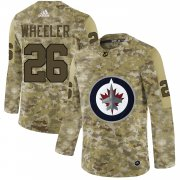 Wholesale Cheap Adidas Jets #26 Blake Wheeler Camo Authentic Stitched NHL Jersey