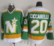 Wholesale Cheap Stars #20 Dino Ciccarelli Stitched Green CCM Throwback NHL Jersey