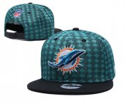Wholesale Cheap Dolphins Team Logo Green Black Adjustable Hat TX