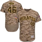 Wholesale Cheap Pirates #46 Ivan Nova Camo Flexbase Authentic Collection Stitched MLB Jersey
