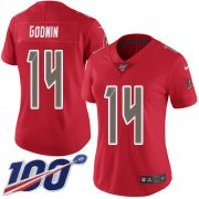 Wholesale Cheap Nike Buccaneers #14 Chris Godwin Red Women's Stitched NFL Limited Rush 100th Season Jersey