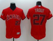 Wholesale Cheap Angels of Anaheim #27 Mike Trout Red Fashion Stars & Stripes Flexbase Authentic Stitched MLB Jersey