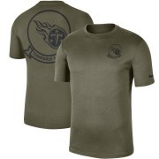 Wholesale Cheap Men's Tennessee Titans Nike Olive 2019 Salute to Service Sideline Seal Legend Performance T-Shirt