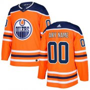 Wholesale Cheap Men's Adidas Oilers Personalized Authentic Orange Home NHL Jersey