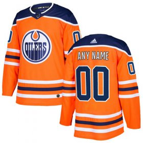 Wholesale Cheap Men\'s Adidas Oilers Personalized Authentic Orange Home NHL Jersey
