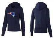 Wholesale Cheap Women's New England Patriots Logo Pullover Hoodie Blue