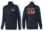 Wholesale Cheap NFL Cincinnati Bengals Team Logo Jacket Dark Blue_2