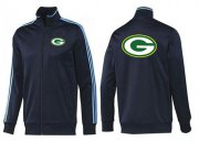 Wholesale Cheap NFL Green Bay Packers Team Logo Jacket Dark Blue