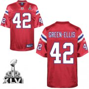 Wholesale Cheap Patriots #42 Green-Ellis Red Alternate Super Bowl XLVI Embroidered NFL Jersey