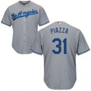 Wholesale Cheap Dodgers #31 Mike Piazza Grey Cool Base Stitched Youth MLB Jersey