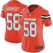 Wholesale Cheap Nike Browns #58 Christian Kirksey Orange Alternate Women's Stitched NFL Vapor Untouchable Limited Jersey