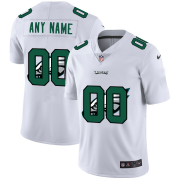 Wholesale Cheap Philadelphia Eagles Custom White Men's Nike Team Logo Dual Overlap Limited NFL Jersey