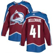 Wholesale Cheap Adidas Avalanche #41 Pierre-Edouard Bellemare Burgundy Home Authentic Stitched Youth NHL Jersey