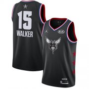Wholesale Cheap Hornets #15 Kemba Walker Black Basketball Jordan Swingman 2019 All-Star Game Jersey